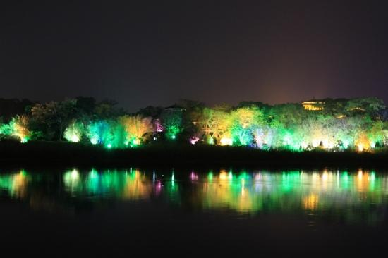 Guilin Taohua River: 夜景