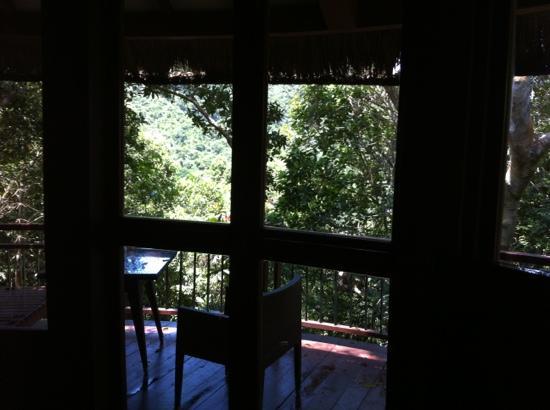 يالونج باي إيرثلي بارادايس بيردز نيست ريزورت: 孔雀房,露台被树挡住了