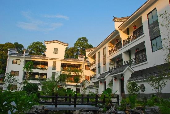 Yue He Zhuang Hotel: 酒店怡人的花园