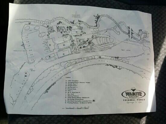 Waikite Valley Thermal Pools: 营地地图