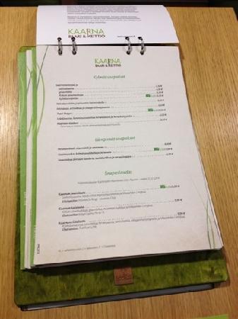 Kaarna : show the menu
