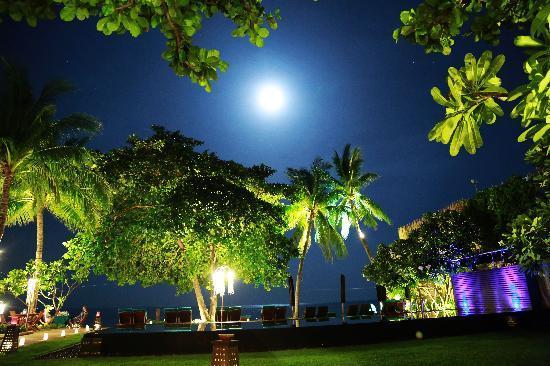 โรงแรมบุรี รสา วิลเลจ: 摄于午夜, 月光,白沙滩