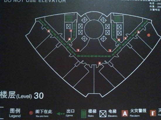 Sheraton Shanghai Waigaoqiao Hotel : 平面图