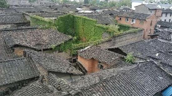 Shangshudi Hotel : 宾馆俯视古城全景