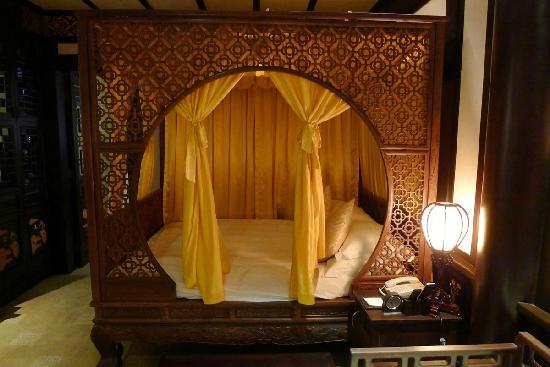 Chengdu Shuyuan: 客房的特色仿古大床