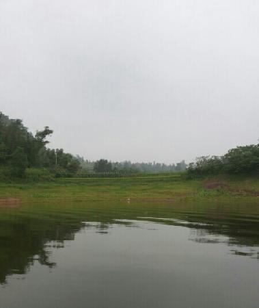 Guzi Lake: 翠绿湖边