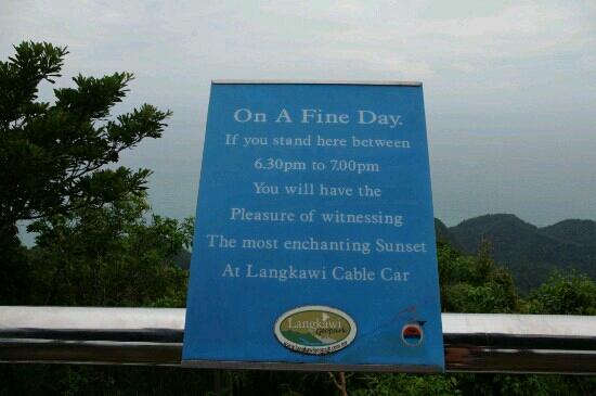 Gunung Mat Cincang: 看日落最佳处