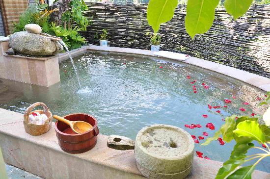 Tengchong Hot Spring Spa: 室外庭院泡池