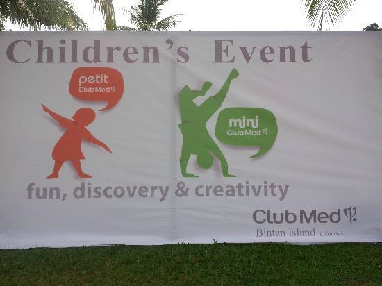 Club Med Bintan Island: children event