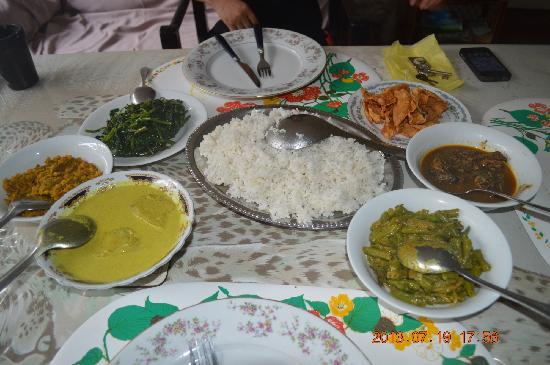 Mihin Villa: dinner