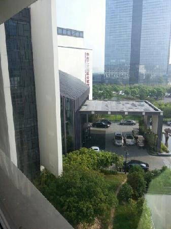 Worldhotel Grand Dushulake Suzhou: 酒店前门