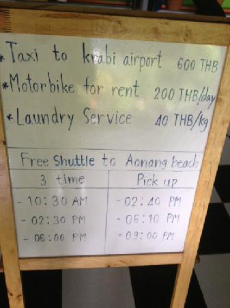 Supsangdao Resort: 前往海滩的免费车时间表