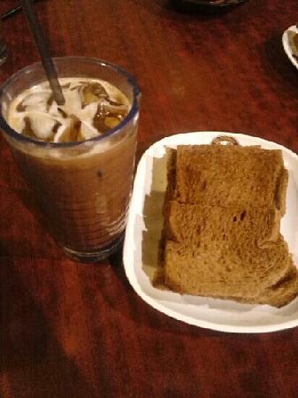 Old Town White Coffee: 冰咖加上加央牛油