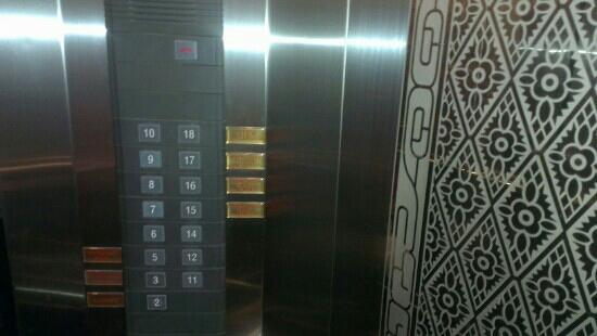 Alexander Hotel Bangkok : 电梯