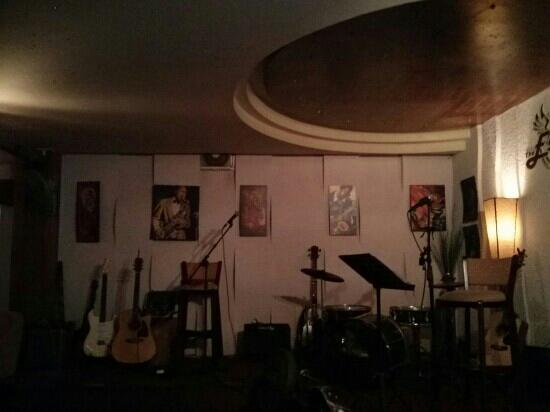 The Escape bar: stage inside