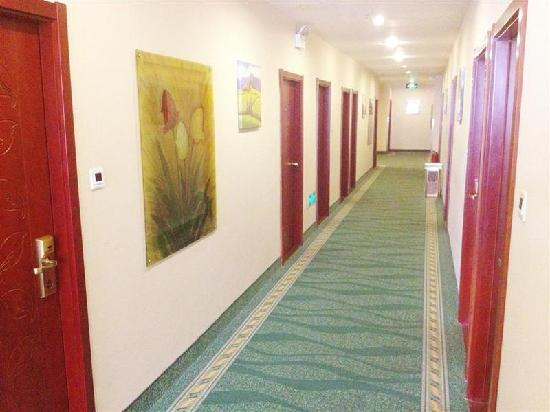 GreenTree Inn Langfang Yanjiao Yanling Road Daxuecheng: 走廊