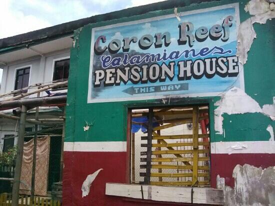 Coron Reef Pension House: 入口