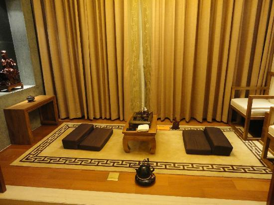 The Mahayana OCT Boutique Hotel: 房间里的打座区