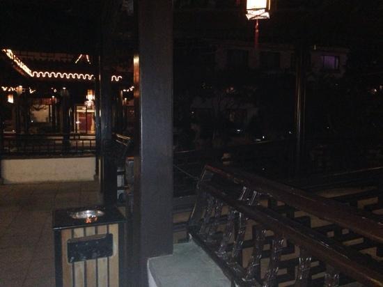 Garden Hotel (Liuyuan Road) - Lingering Garden : 夜间的酒店内园林