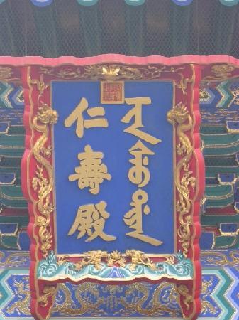 Hall of Benevolence and Longevity: 颐和园仁寿殿。