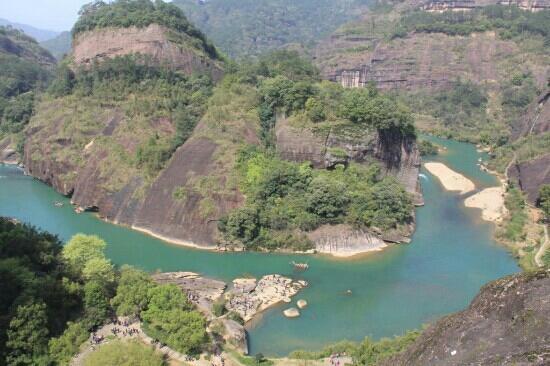 Jiuqu Stream in Wuyishan Mountain : 武夷山九曲溪