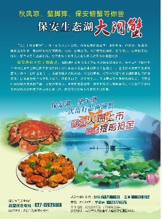 Daye, China: 保安湖螃蟹