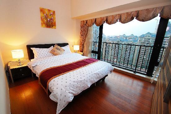 Private Enjoyed Home Apartment Guangzhou Jiarun Linjiang Shangpin: 豪华园景大床房