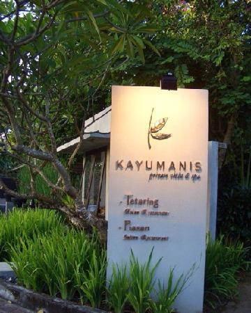Kayumanis Nusa Dua Private Villa & Spa : 肉桂酒店标志