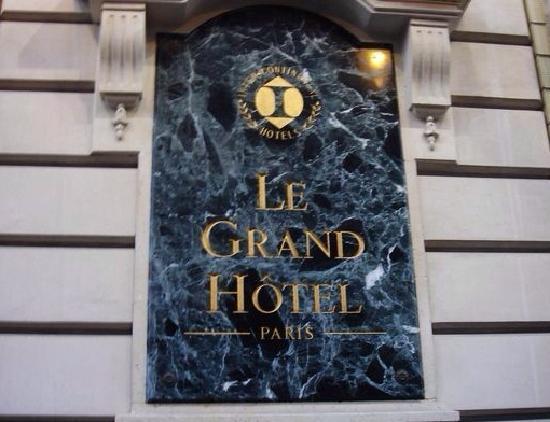 InterContinental Paris Le Grand: 巴黎洲际酒店招牌