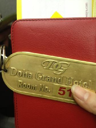 Doha Grand Hotel : 钥匙
