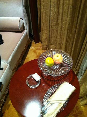 Dongsheng Hotel: 赠送的水果