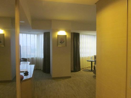 Hotel Nikko New Century Beijing : 奇怪的客房形状