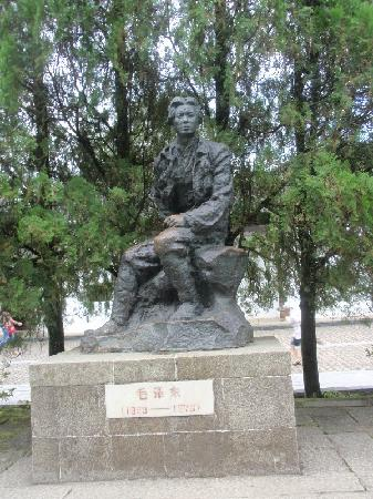 Former Residence of Zedong Mao And De Zhu's: 雕像