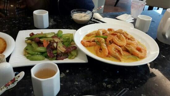Bellagio Cafe: 咖喱虾,芥兰