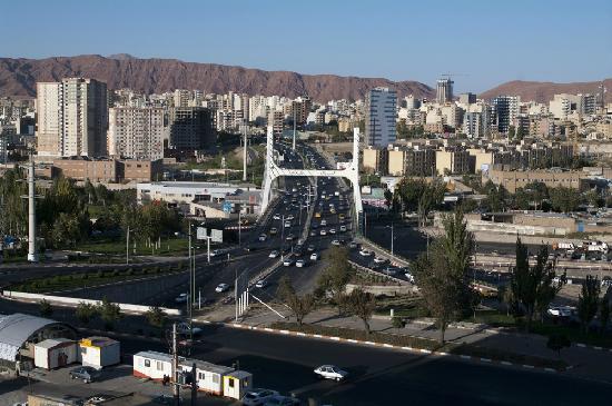Shahryar International Hotel Tabriz: 房间窗外