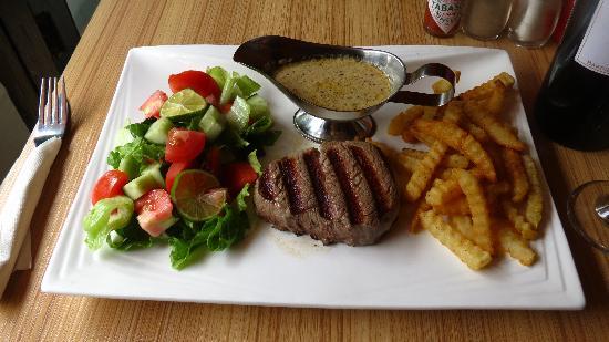 The Alley Restaurant: grilled beef steak