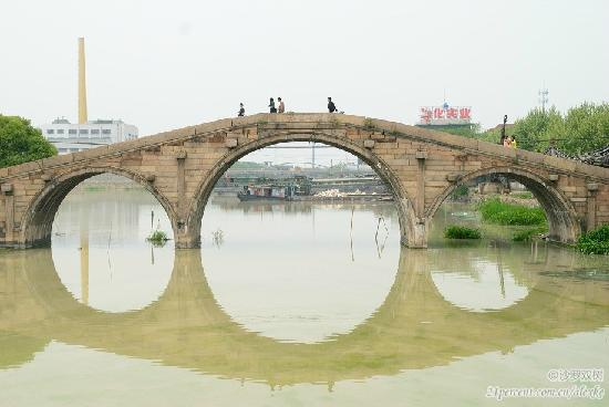 Huzhou Anlan Bridge: 拉近看三孔