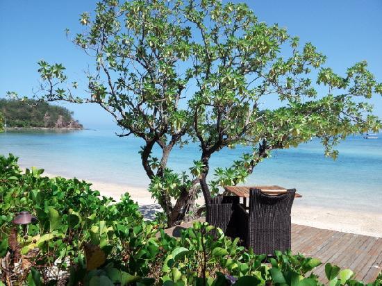 Likuliku Lagoon Resort: LIKULIKU餐厅最佳位置