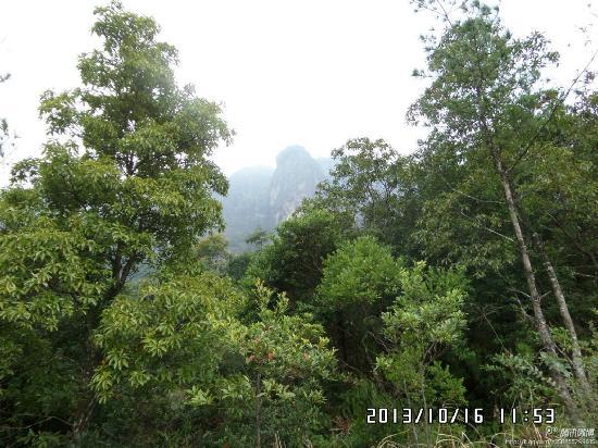 Pinghe County, Kina: 腾云驾雾上云霄,灵通峰顶问风流。.