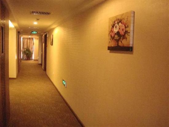 GreenTree Inn Tongxiang Puyuan Express Hotel : 走廊