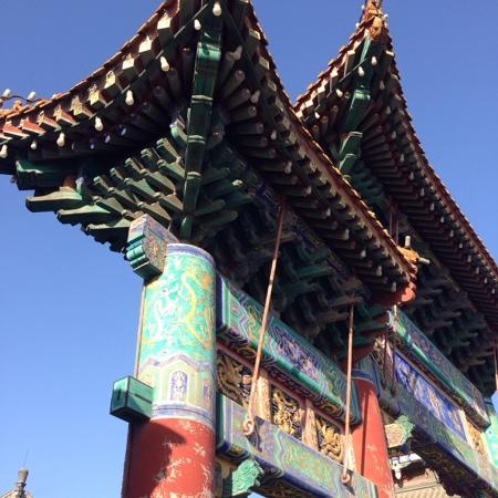 Yangliuqing Ancient Town: 杨柳青景区的大门
