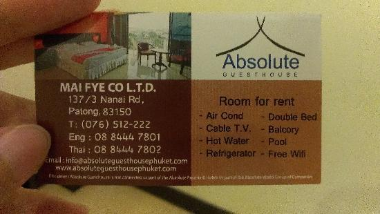 Absolute Guesthouse: 不错,挺好的!