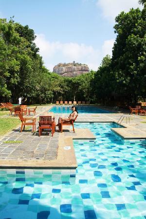 Hotel Sigiriya: 最漂亮的当属这个游泳池了,真的很美,俯瞰狮子岩的黄金位置