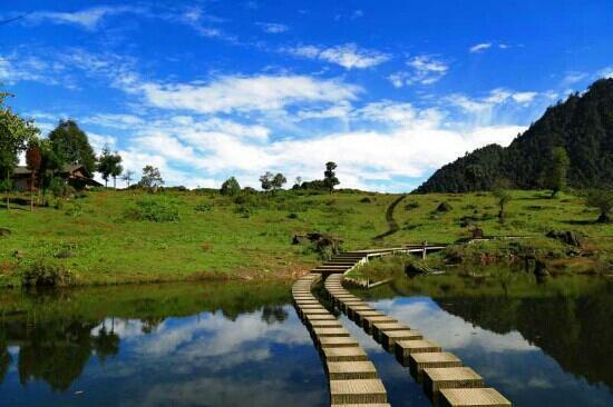 Ebian County, Chiny: 黑竹沟-玛里冷觉风光