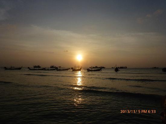 Sairee star travel: 日落