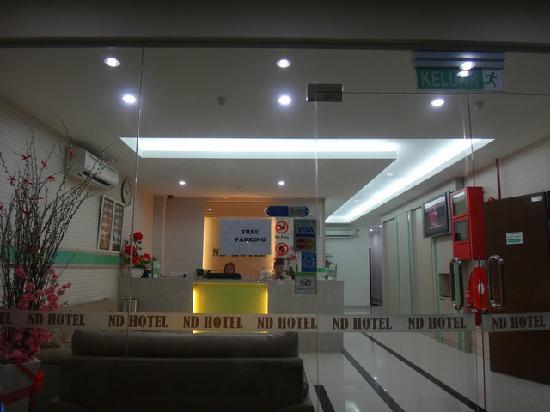 ND Hotel: 酒店大门口