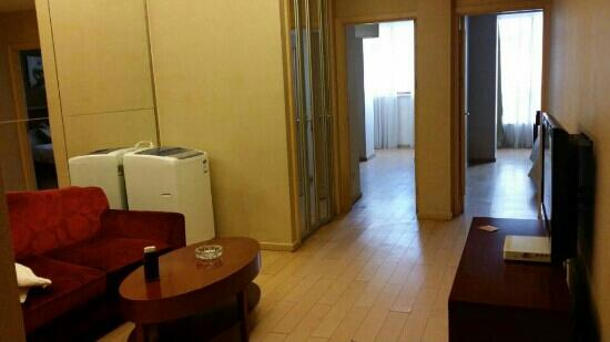 Yongtai Junyue Hotel : 套房的客厅