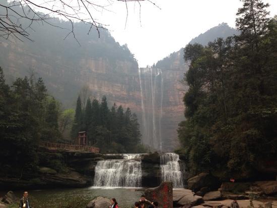 Simian Mountain: 四面山望乡台瀑布