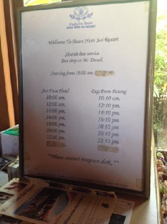 Baan Nern Sai Resort Phuket: shuttle bus