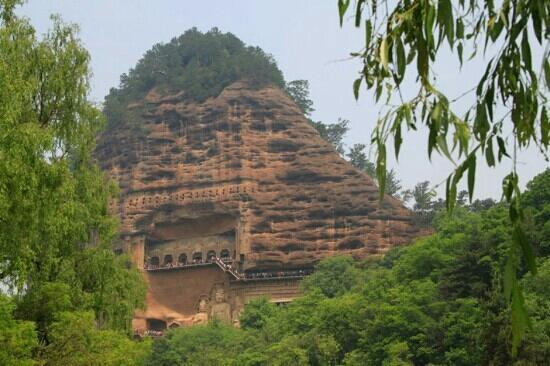 Maiji Shan Caves: 遥望